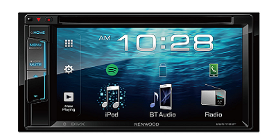 "KENWOOD DDX418BT 6.2"" - 2 Din - Monitor USB DVD - Reciever Bluetooth"