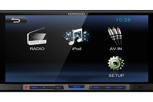 "KENWOOD DMX100 - 6.8"" - 2 Din Monitor USB Receiver Bluetooth"