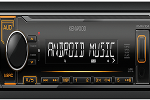 KMM-104AY Digital Media Receiver with Front USB & AUX Input