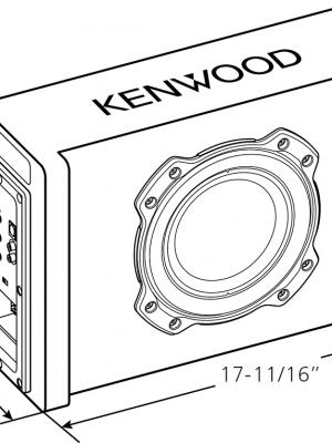 "KENWOOD PA-801B : 8"" Oversized 400watt shallow Subwoofer"