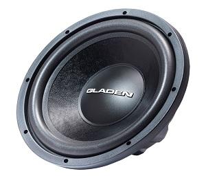 Gladen RS-X 12 Slim : Subwoofer-12″/30 cm-600/400 Watt